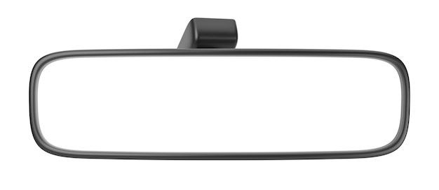 Specchietto retrovisore vuoto isolato