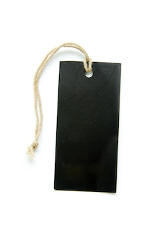 Etichetta vuota isolata su un sfondi bianchi