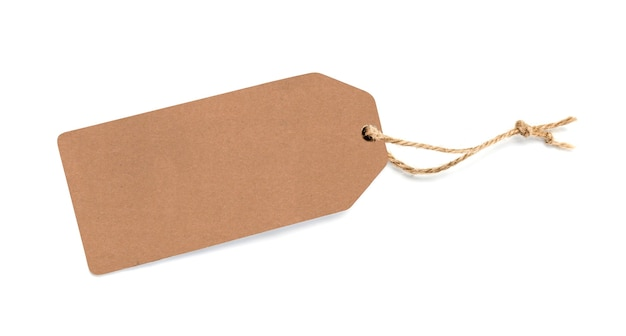 Etichetta vuota legata con lo spago