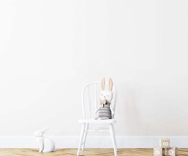Mockup di muro bianco bianco mockup per bambini