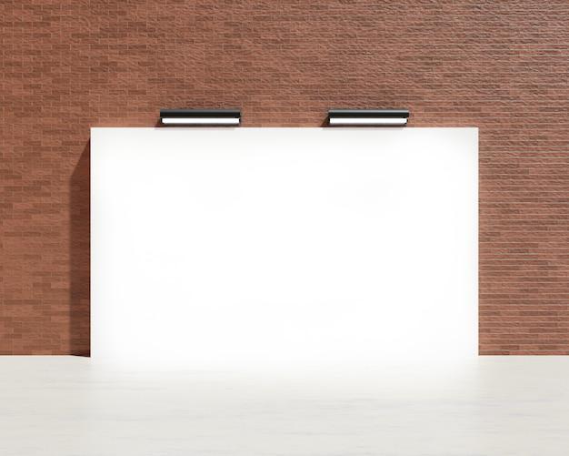 Contesto bianco in bianco e progettazione dell'insegna il tessuto e il tessuto del concetto dell'insegna di pubblicità o il media visualizzano il fondo 3d rendono l'illustrazione.