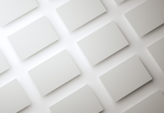 Modello di progettazione biglietti da visita bianco vuoto su sfondo isolato biglietto da visita per uso aziendale e personale