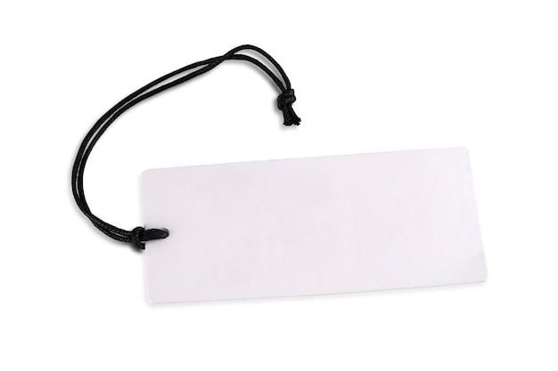 Cartellino del prezzo di cartone bianco vuoto