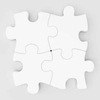 Puzzle raccolti bianchi in bianco