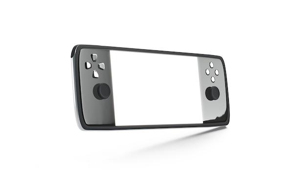 Schermo bianco vuoto della console di gioco mock up mock
