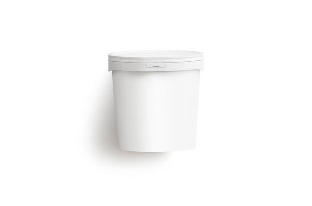 Modello bianco in bianco del secchio del gelato