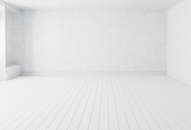 Sfondo bianco bianco camera interna