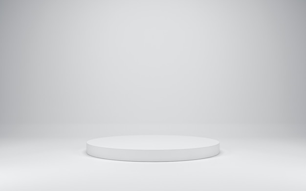Podio bianco vuoto, rendering 3d