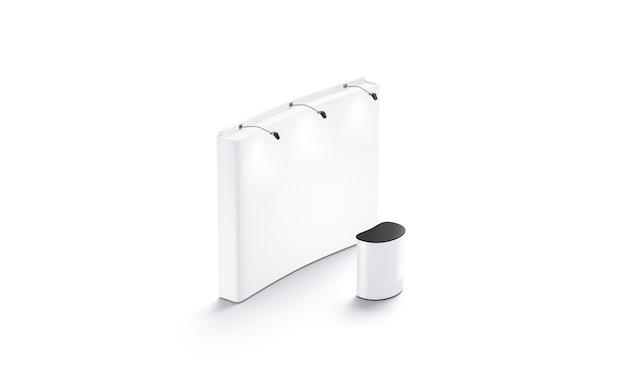 Mockup di stand fieristico bianco vuoto