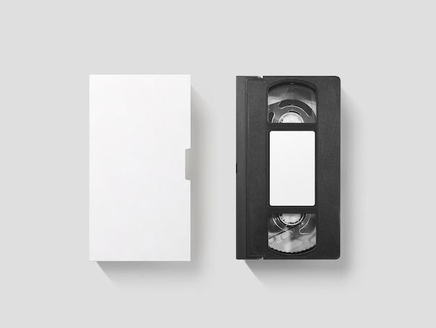 Mockup di videocassetta bianco vuoto