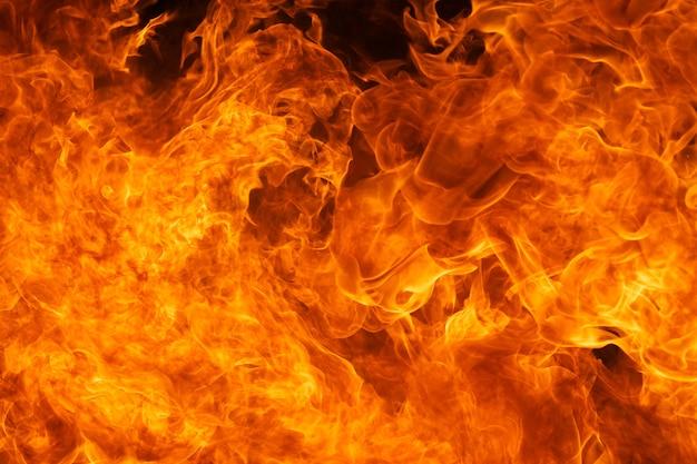 Fondo di struttura della fiamma del fuoco della fiammata Foto Premium