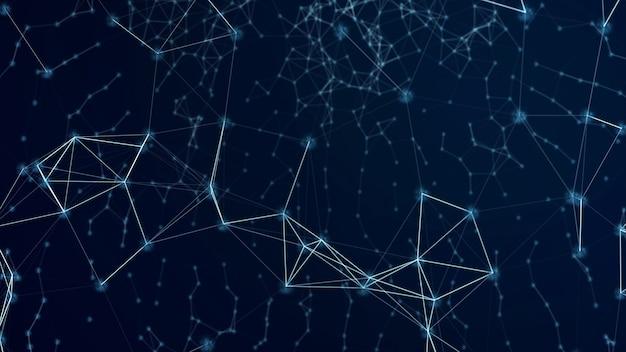 Fondo astratto futuristico di tecnologia blockchain con rete blockchain.