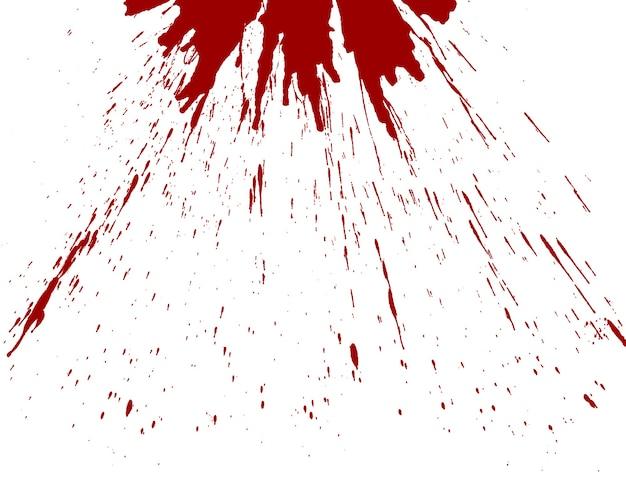 Sangue schizzato sul bianco
