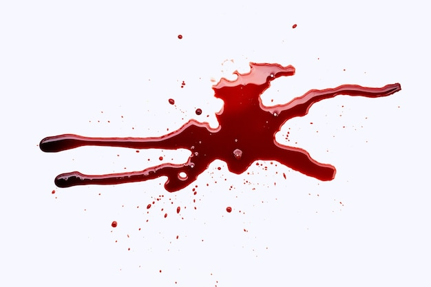 Schizzi di sangue.