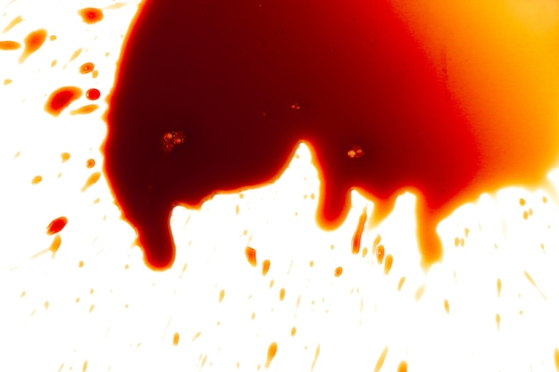 Macchie di sangue su uno sfondo bianco