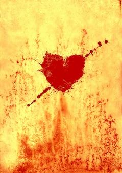 San valentino rosso sanguinante