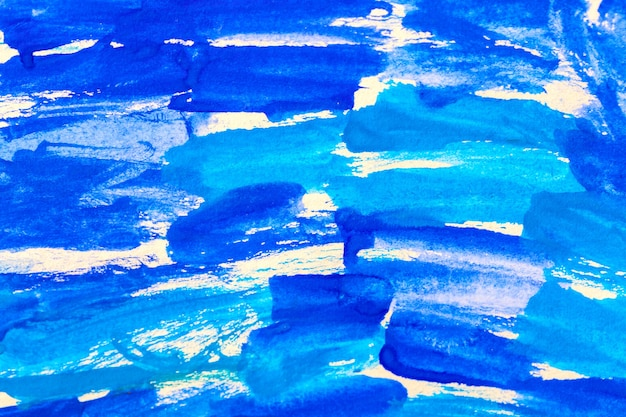 Priorità bassa dell'acquerello di acquerello blu vernice acrilica astratta.