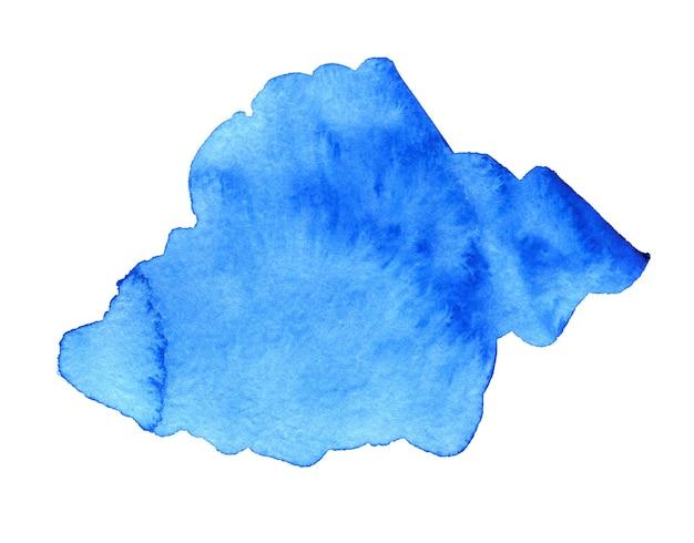 Sfondo acquerello disegnato a mano astratto blu per testo o logo clipart acquerello