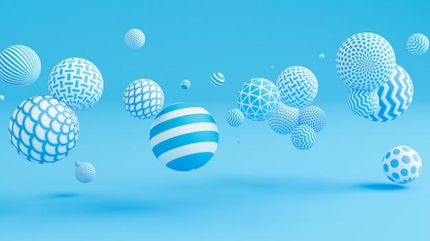 Sfondo blu con le palle.