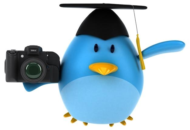 Uccello blu - illustrazione 3d