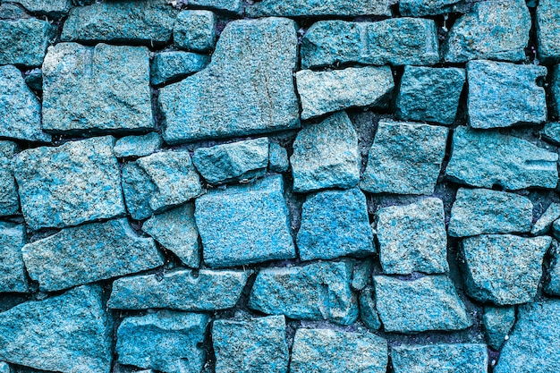 Muro di mattoni blu