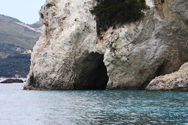 Grotte blu sull'isola di zante - grecia, foto di viaggio