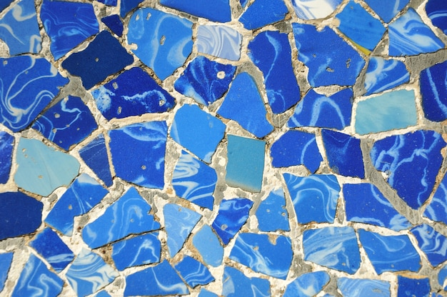 Modello in ceramica blu