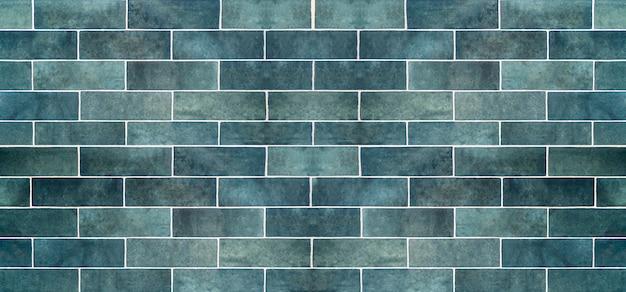 Sfondo blu piastrelle di ceramica. vecchie piastrelle di ceramica vintage in blu per decorare la cucina o il bagno