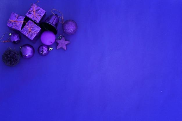 Ornamenti blu della decorazione della priorità bassa di natale