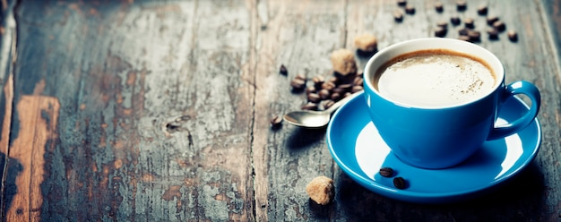 Tazza di caffè blu