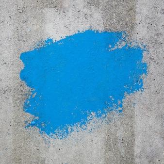 Colore blu dipinto su muro di cemento con copia spazio per il tuo design estremo primo piano