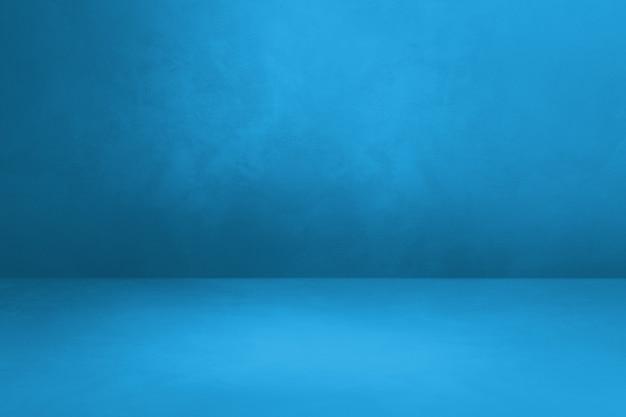 Sfondo interni in cemento blu. scena modello vuoto