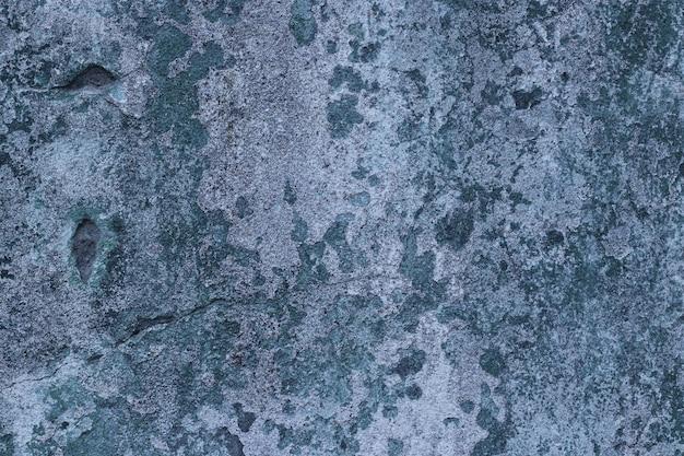Muro di cemento blu con spazio copia superficie texture macchie per il design o il testo, formato orizzontale