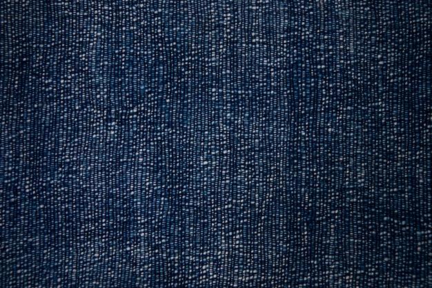 Fondo blu di struttura del tessuto di cotone. Foto Premium