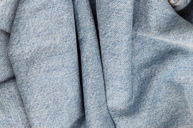 Dettagli del materiale in tessuto denim blu