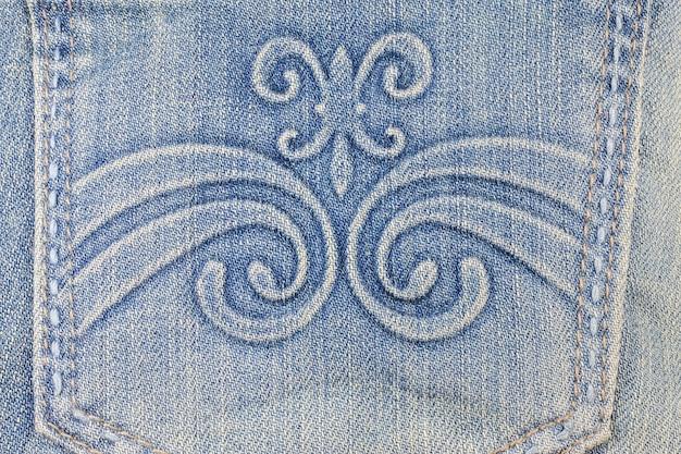 Priorità bassa di struttura dei jeans blu denim
