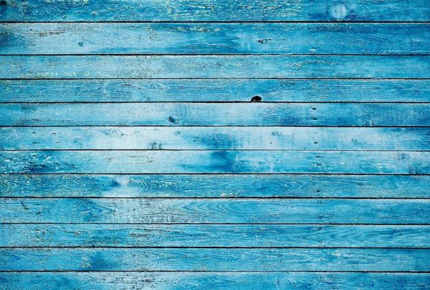 Muro di legno sporco blu