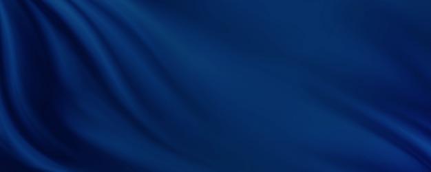 Fondo blu del tessuto con l'illustrazione 3d dello spazio della copia