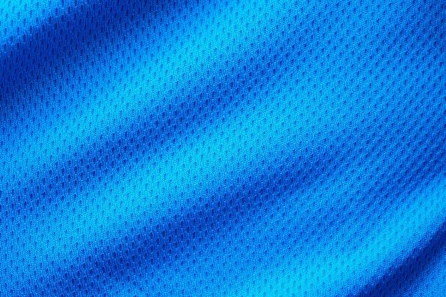 Trama di abbigliamento sportivo in tessuto blu
