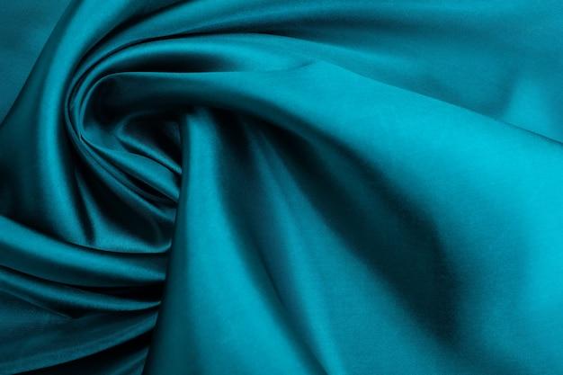 Tessuto blu texture di sfondo, astratto, closeup trama di stoffa