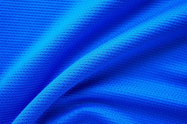 Abbigliamento sportivo di struttura in tessuto di maglia da calcio blu