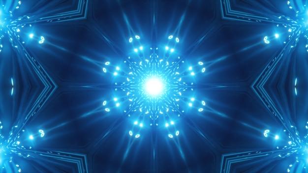 Sfondo blu caleidoscopico frattale