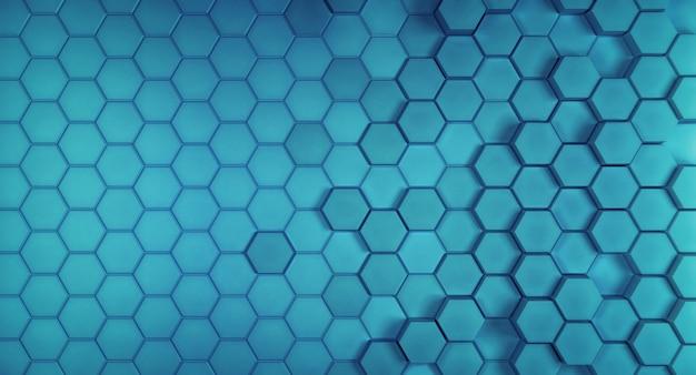 Struttura geometrica delle celle di esagono blu