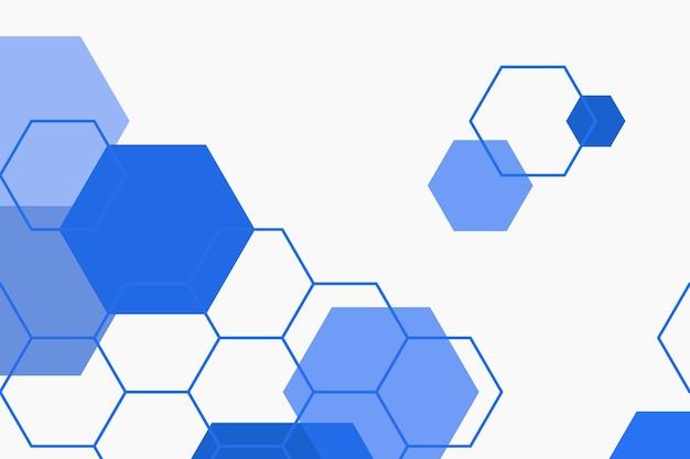 Sfondo con motivo esagonale blu