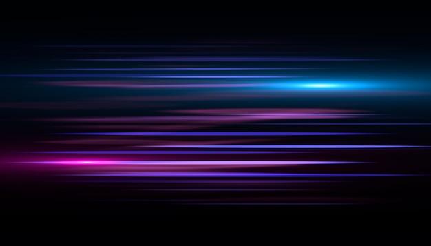 Effetto rapido striatura di luce blu. velocità di sfondo astratto.