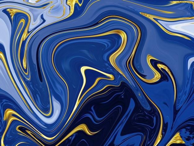 Fondo di struttura di marmo liquido blu