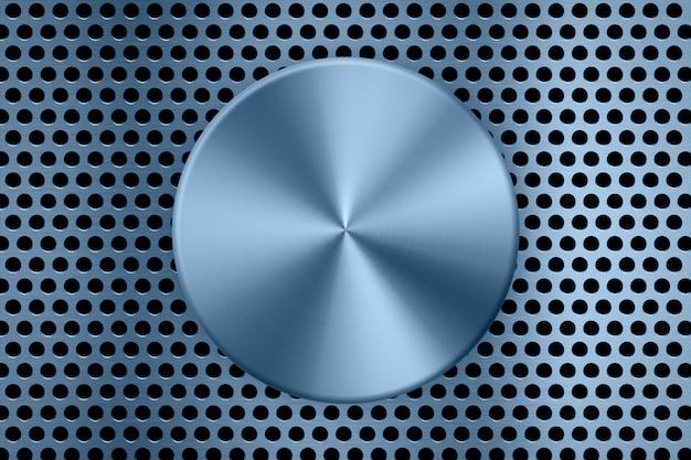 Piastra metallica blu sullo sfondo dello schermo in metallo