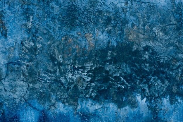 Trama di sfondo blu mortaio crepa sfondo muro, trama concreta