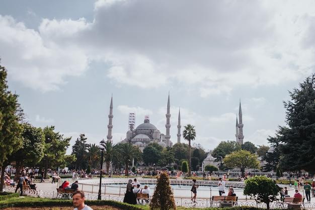 Moschea blu, esplora la turchia, visita il concetto di istanbul