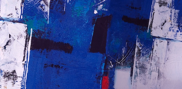Trama di sfondo astratto pittura ad olio blu.